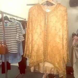 Gold Silk Custom Jacket